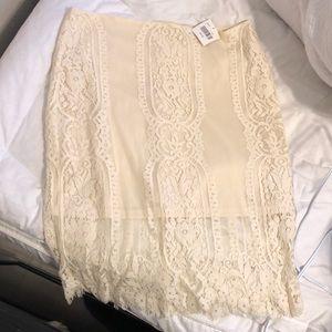 Cream Lace Skirt!